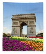 Arc De Triomphe In Paris Fleece Blanket