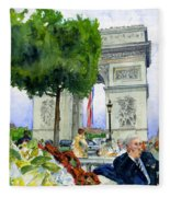 Arc De Triomphe Fleece Blanket