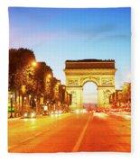 Arc De Triomphe, Paris, France Fleece Blanket