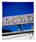 Arcade Vintage Sign Fleece Blanket