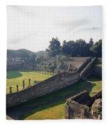 Arcaded Court Of The Gladiators Pompeii Fleece Blanket