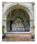 Arch At Fontevraud Abbey  Fleece Blanket