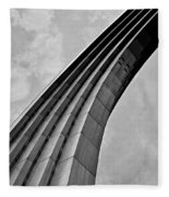 Arch In Black And White Fleece Blanket
