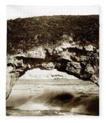 Arch Rock, Santa Cruz, California Circa 1900 Fleece Blanket
