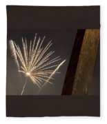 Arch With Fireworks Fleece Blanket