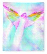 Archangel Gabriel In Flight Fleece Blanket