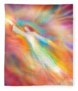 Archangel Jophiel Illuminating The Ethers Fleece Blanket