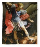 Archangel Michael Defeating Satan Fleece Blanket