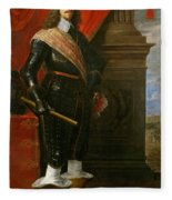 Archduke Leopold Wilhelm With The Siege Of Gravelingen Fleece Blanket
