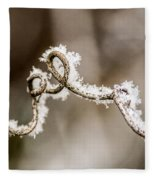 Arched Frosty Curlique Fleece Blanket