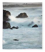 Arched Rock Wave Break Fleece Blanket