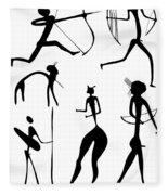 Archer And Other Figures Fleece Blanket