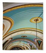 Arches And Curves - Capitol Building - Missouri Fleece Blanket