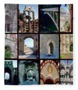 Arches Collage Fleece Blanket