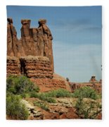 Arches National Park 3 Fleece Blanket
