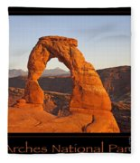 Arches National Park Poster Fleece Blanket