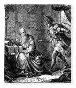 Archimedes (c287-212 B.c.) Fleece Blanket