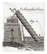 Archimedes Screw, 1769 Fleece Blanket