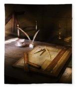 Architect - The Drafting Table  Fleece Blanket