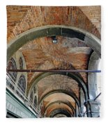Architectural Ceiling Of The Building Owned By The Rialto Market In Venice, Italy Fleece Blanket