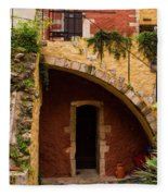 Architectural Details In Chania Fleece Blanket