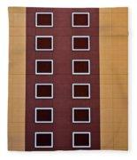 Architectural Geometry Fleece Blanket
