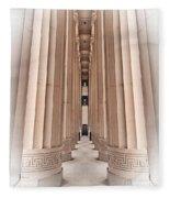 Architectural Pathway Of Pillars Fleece Blanket
