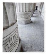 Architectural Pillars Fleece Blanket