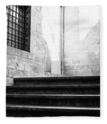 Architectural Stone Stairs Fleece Blanket