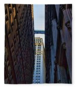 Architecture New York City The Crossing  Fleece Blanket