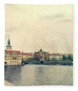 Architecture Of Charles Bridge Fleece Blanket