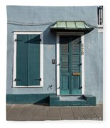 Architecture Of The French Quarter In New Orleans Fleece Blanket