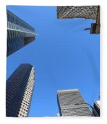 Architecture Tall Color Buildings Fleece Blanket