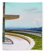 Architecture View Getty Los Angeles  Fleece Blanket
