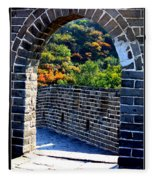 Archway To Great Wall Fleece Blanket