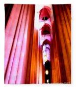 Archways Of St.john The Divine Fleece Blanket
