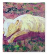 Arctic Wolf Fleece Blanket