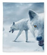 Arctic Wolves Fleece Blanket