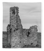 Ardvrek Castle 0945 Bw Fleece Blanket