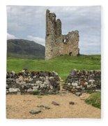 Ardvrek Castle Panorama 0842 Fleece Blanket