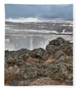 Area By Godafoss Waterfalls, Iceland Fleece Blanket