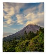 Arenal At The Sun's Last Touch Fleece Blanket