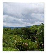 Arenal Lake And Volcano Fleece Blanket