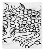 Argus Sea Monster, 1537 Fleece Blanket