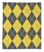 Argyle Diamond With Crisscross Lines In Pewter Gray N05-p0126 Fleece Blanket