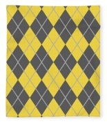 Argyle Diamond With Crisscross Lines In Pewter Gray T05-p0126 Fleece Blanket