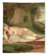 Ariadne Asleep On The Island Of Naxos Fleece Blanket