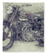 Ariel Square Four 1 - 1931 - Vintage Motorcycle Poster - Automotive Art Fleece Blanket