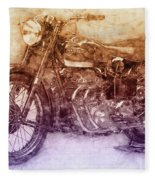 Ariel Square Four 2 - 1931 - Vintage Motorcycle Poster - Automotive Art Fleece Blanket