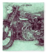 Ariel Square Four 3 - 1931 - Vintage Motorcycle Poster - Automotive Art Fleece Blanket